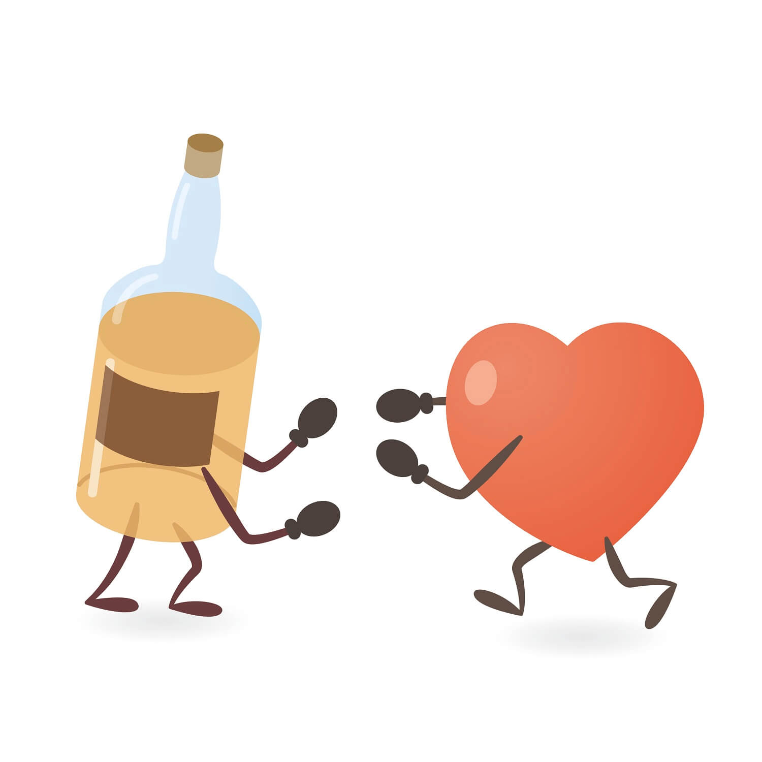 Alcohol Heart Fighting