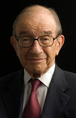 "Economist Alan Greenspan: ""I'm a lecturer by profession, and I find it one of the most important ways to communicate ideas."""