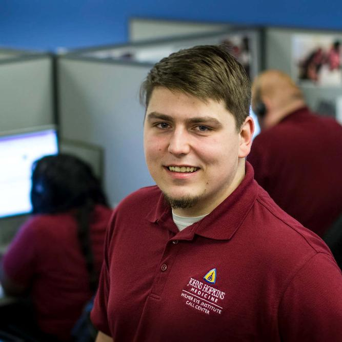 Everyday Hopkins: Bryan Rexroad, Wilmer Eye Institute Call Center Agent