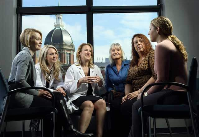 group of women at a survivorship meeting