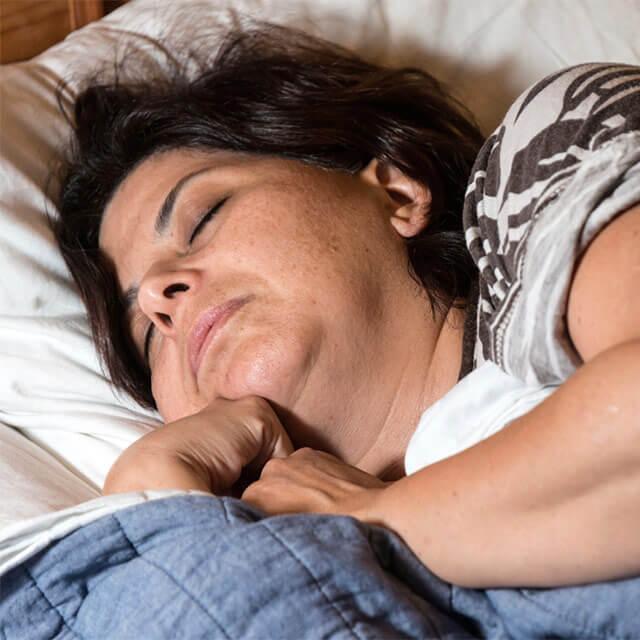 Woman fast asleep