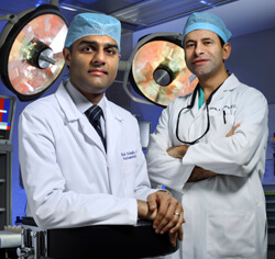 """We care for all chronic pancreatitis patients,"" says Vikesh Singh who, with Martin Makary, runs the new islet autotransplant program."