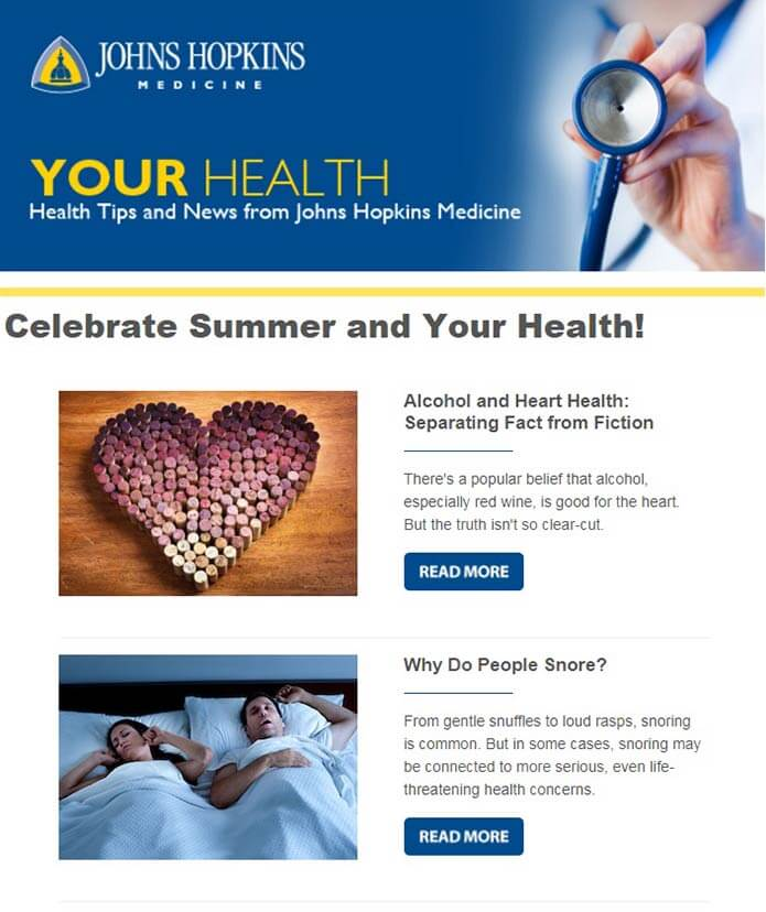 your health newsletter sample