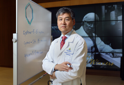 Michael Choi uses medical and dietary therapy to help prevent formation of cystine stones.
