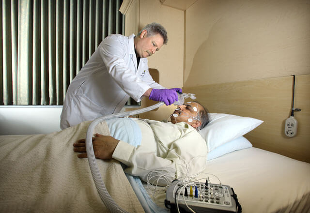 Sleep disorders patient and physician