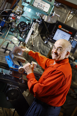 Now retired, Bernard Marsh has time to practice his longtime hobby of machine shop work.