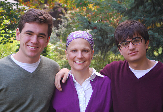 Kate Pisano with her two sons