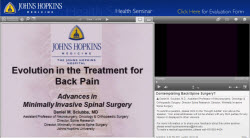 spinal surgery online video