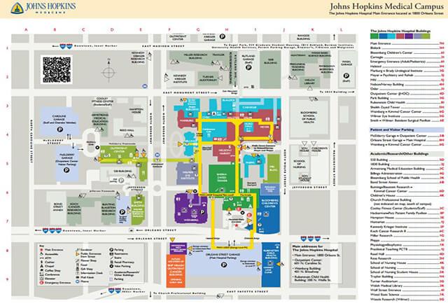 Hopkins Medical Campus Map.Patient Information