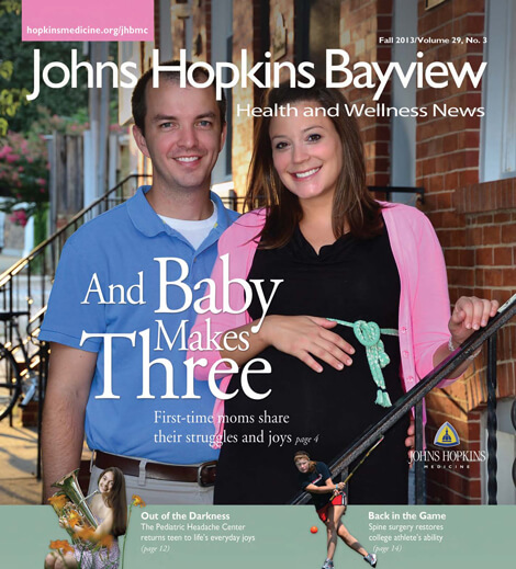 Cover image of Johns Hopkins Bayview News, Fall 2013 issue