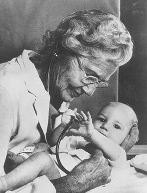 Dr. Helen Taussig, first female director of the Harriet Lane Home's Cardiac Clinic