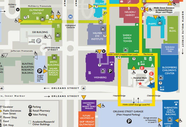 Map of Medical Campus