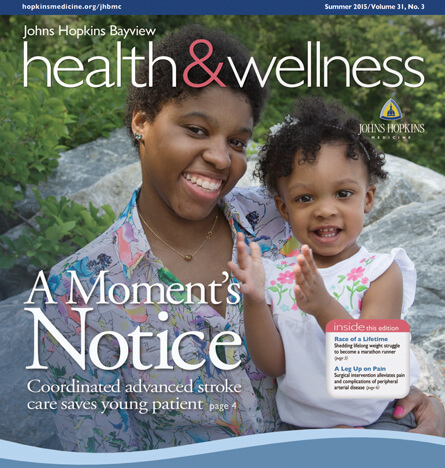 Cover image of Johns Hopkins Bayview Health & Wellness Summer 2015 edition