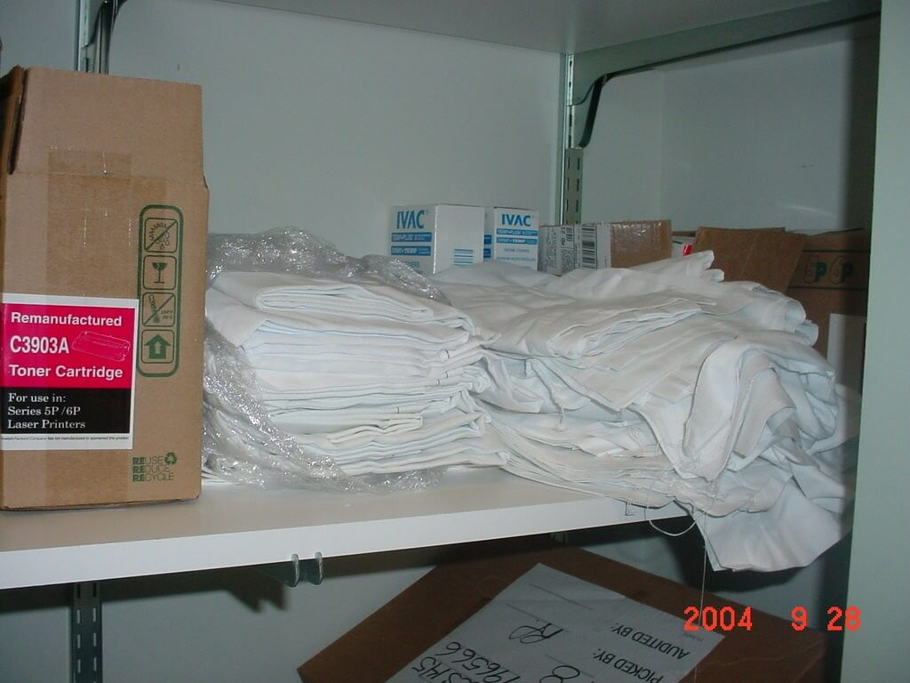 A If Linen Is Stored In Closet With Other Items It Must Be Covered