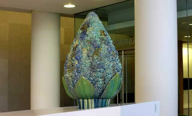 The Bouquet, in the Zayed Tower Ground Level Lobby by Artist Kate Malone from New York, NY.