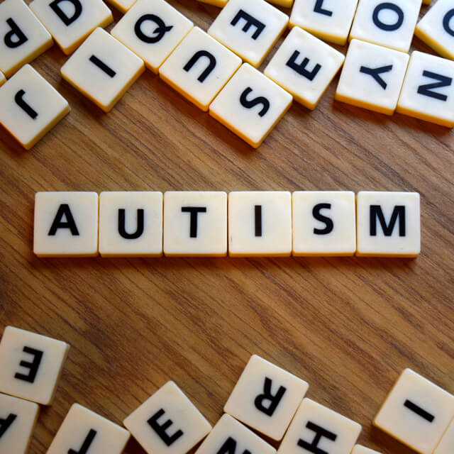 autism spelled in scrabble letters
