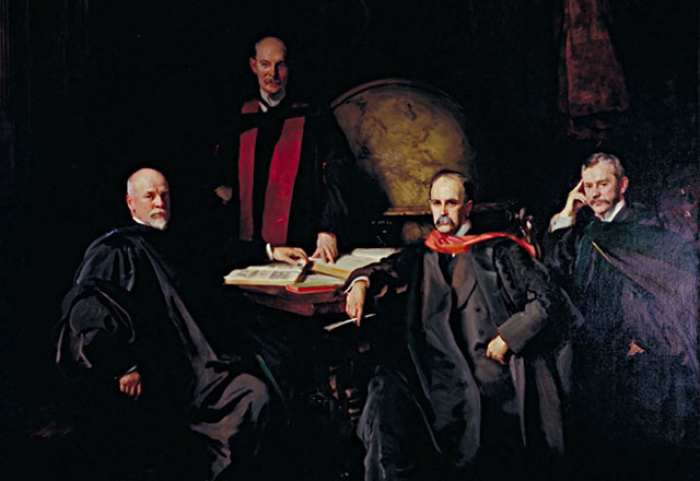 painting of the four founding physicians of the Johns Hopkins University School of Medicine