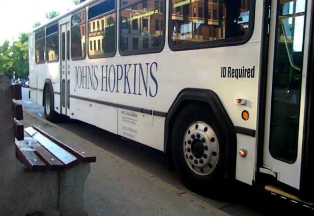 Johns Hopkins shuttle bus