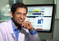 Staish Misra's website helps health care providers sift through voluminous information.