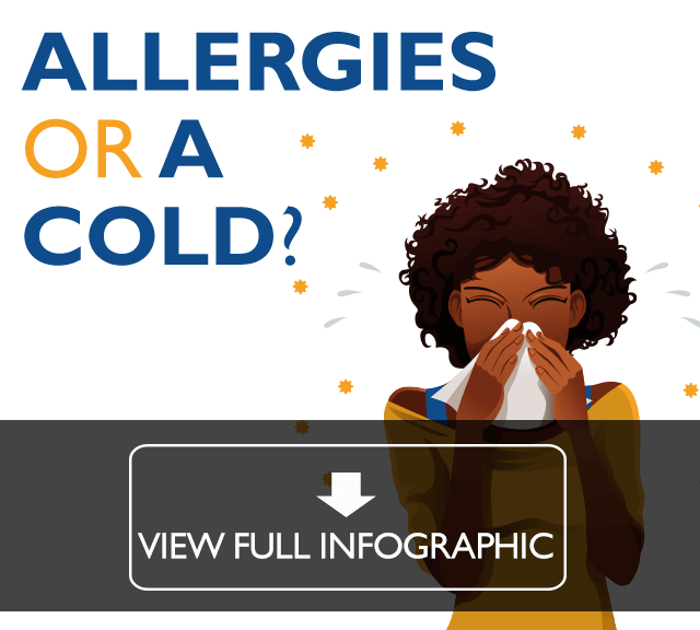 Allergies or a cold infographic. Click to view.