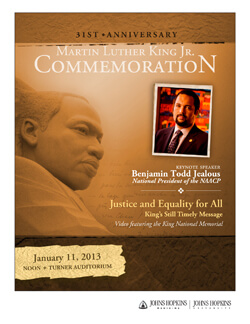 31st anniversary Martin Luther King, Jr. Commemoration