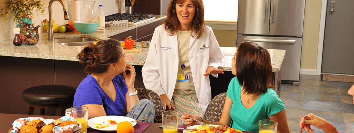 Angela Guarda, M.D. and patients