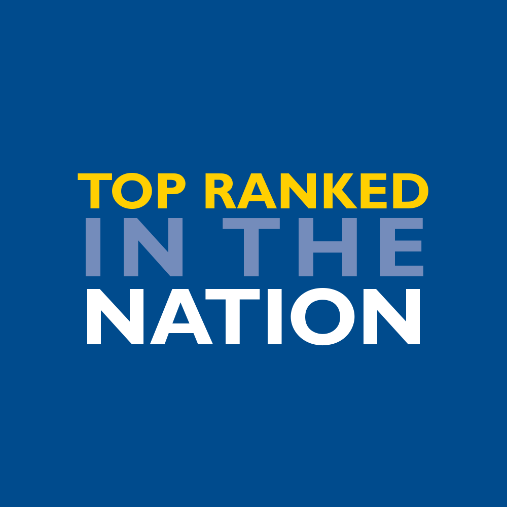 Top ranked in the nation, according to U.S. News & World Report