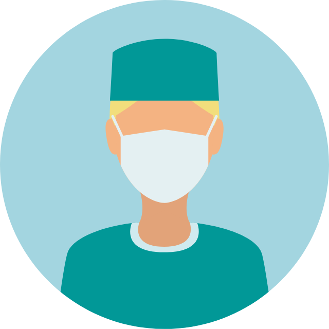 Surgeon icon with mask
