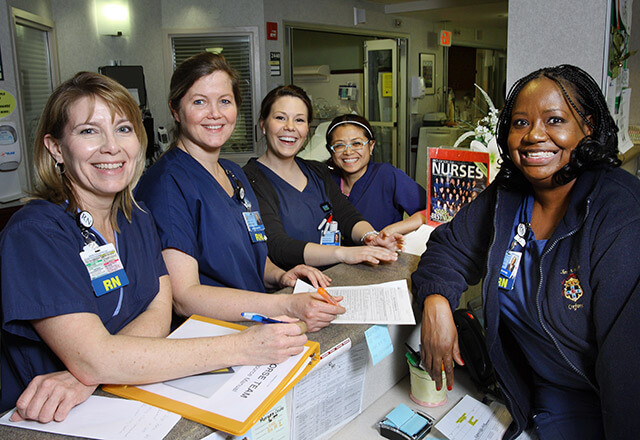 A group of Suburban Hospital nurses