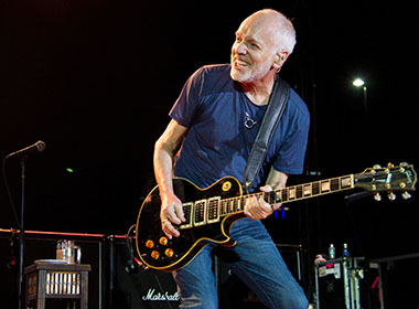 A photo shows Peter Frampton.