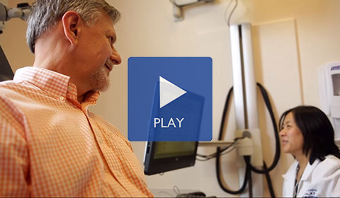 Dan and Dr. Lin discuss treatment. Click to play.