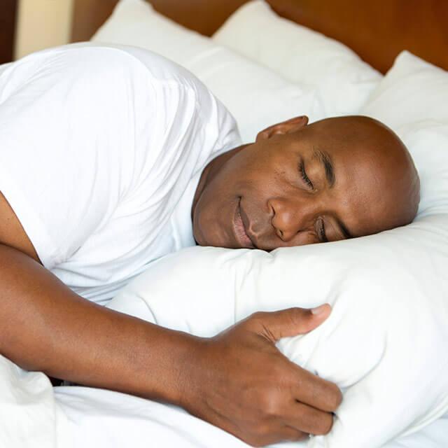 Man fast asleep