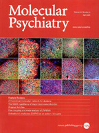 Molecular Psychiatry cover