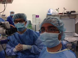 residents in the operating room