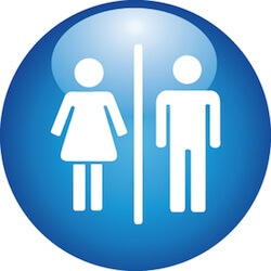 Men and women bathroom symbol