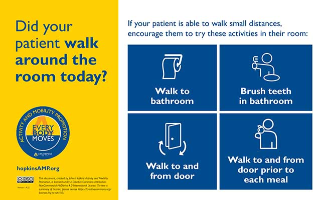 did your patient walk around the room today flyer
