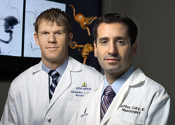 Alex Coon and Geoffrey Colby are performing a new type of surgery that offers an opportunity to remove aneurysms completely.