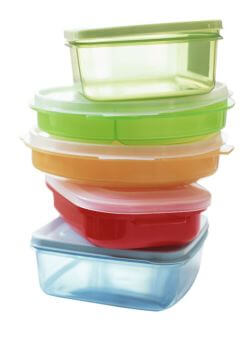 Colored containers