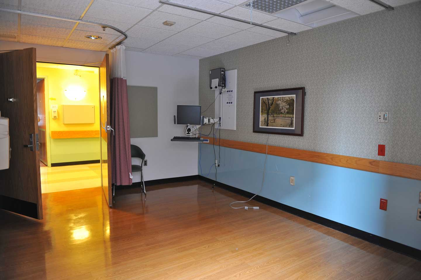 An old patient room, where so many have healed, is left vacant after the move.