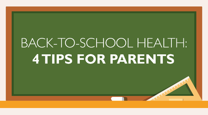Back-to-School Health: Tips for Parents Infographic
