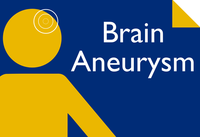 brain aneurysm promotional graphic