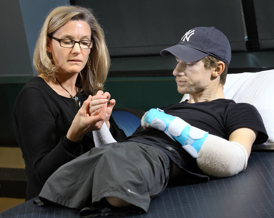 Brendan Morrocco receives a double arm transplant.