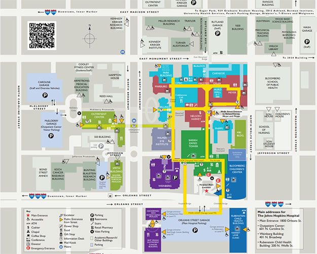 johns hopkins campus map Patient Visitor Parking Garages Security Parking johns hopkins campus map
