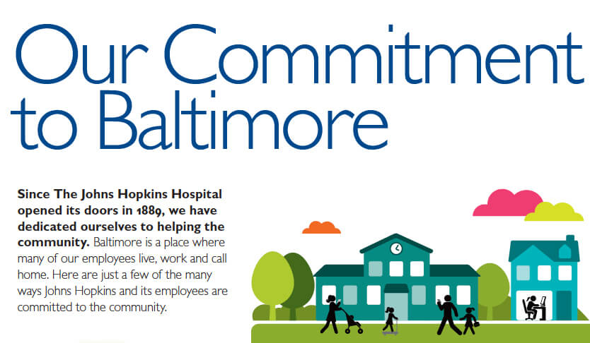Commitment to Baltimore infographic