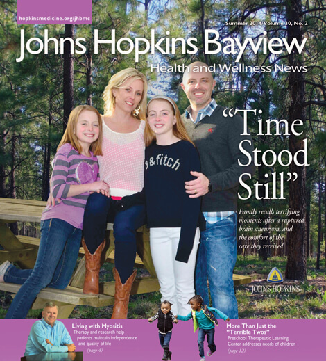 Cover of Johns Hopkins Bayview Health & Wellness News, Summer 2014