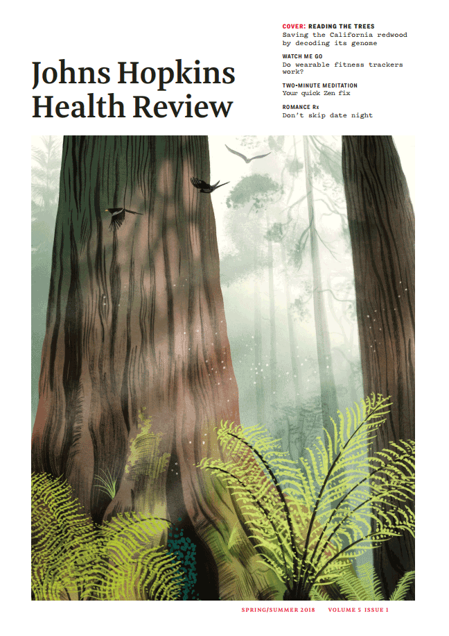 Johns Hopkins Health Review Spring and Summer 2018 cover.