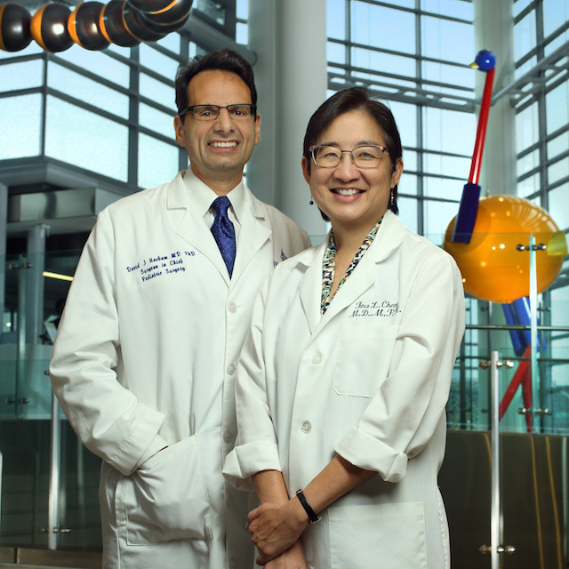 Dr. Hackam and Cheng, co-directors of Johns Hopkins Children's Center