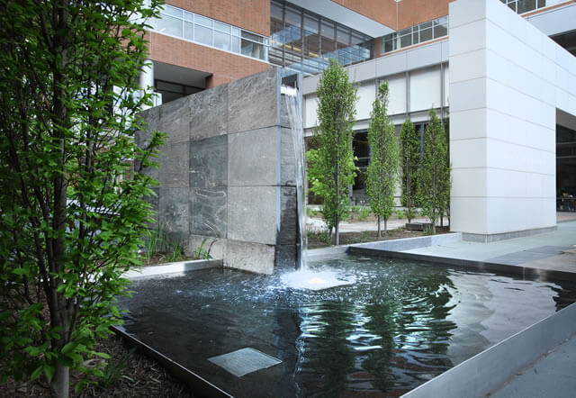 An image of a cascading fountain