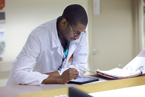 physician studying