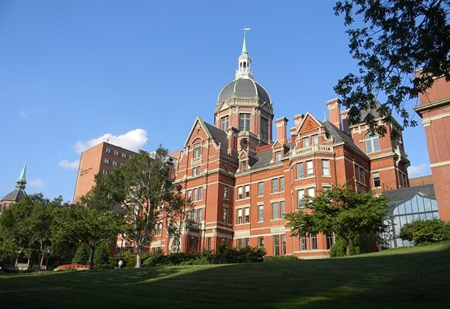 Exterior of the Johns Hopkins Hospital